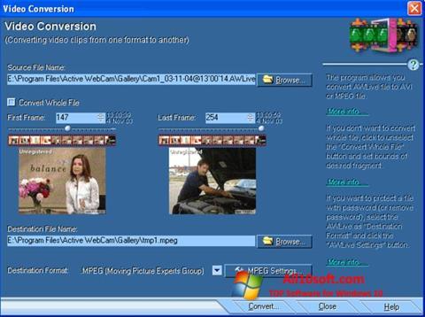 Снимак заслона Active WebCam Windows 10