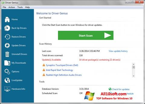 Снимак заслона Driver Genius Professional Windows 10