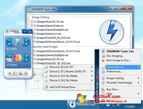 Снимак заслона DAEMON Tools Lite Windows 10