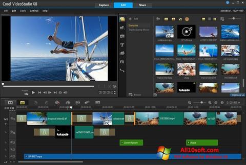 Снимак заслона Corel VideoStudio Windows 10