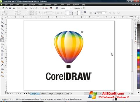 Снимак заслона CorelDRAW Windows 10