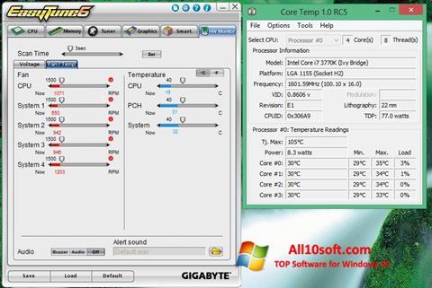 Снимак заслона EasyTune Windows 10
