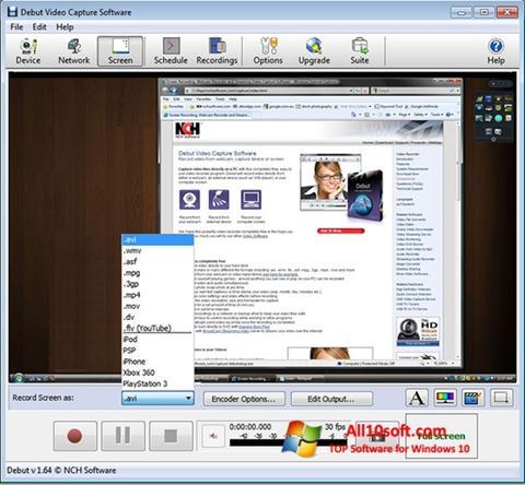 Снимак заслона Debut Video Capture Windows 10