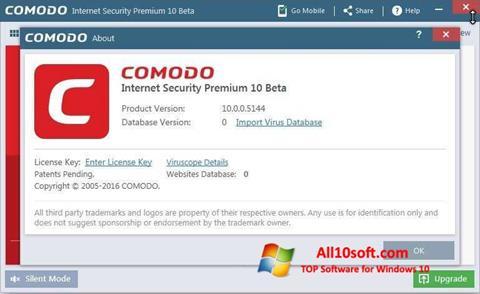 Снимак заслона Comodo Windows 10