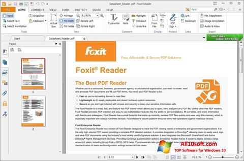 Снимак заслона Foxit Reader Windows 10