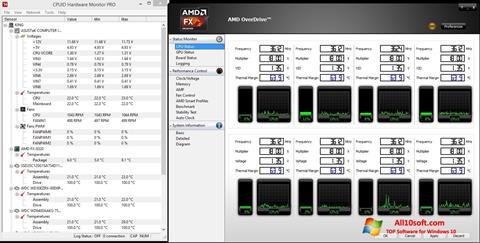Снимак заслона AMD Overdrive Windows 10