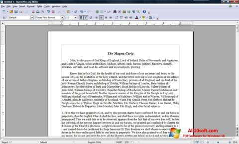 Снимак заслона OpenOffice Windows 10