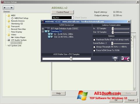 Снимак заслона ASIO4ALL Windows 10
