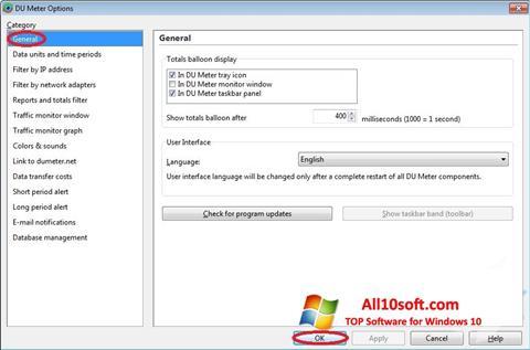 Снимак заслона DU Meter Windows 10