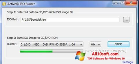 Снимак заслона ISO Burner Windows 10