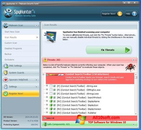 Снимак заслона SpyHunter Windows 10