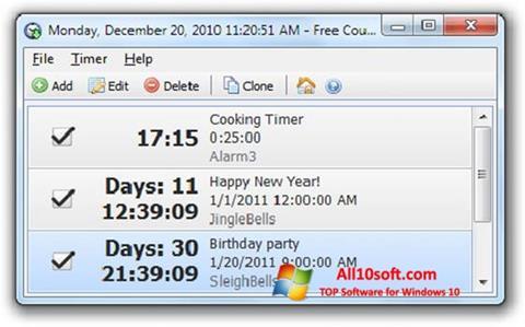 Снимак заслона Free Countdown Timer Windows 10