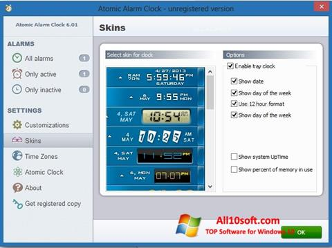 Снимак заслона Atomic Alarm Clock Windows 10