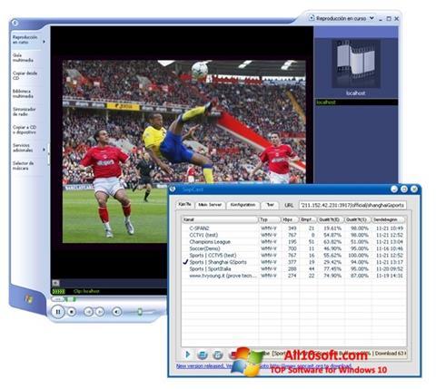 Снимак заслона SopCast Windows 10