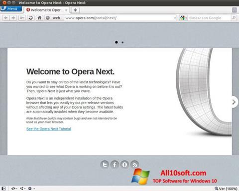 Снимак заслона Opera Developer Windows 10