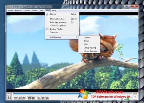 Снимак заслона VLC Media Player Windows 10