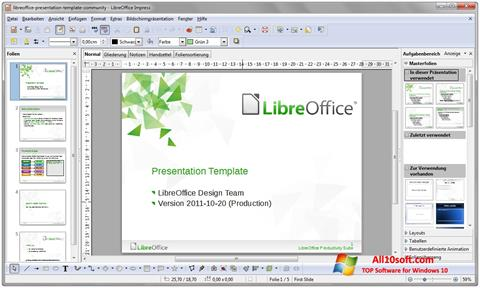 Снимак заслона LibreOffice Windows 10