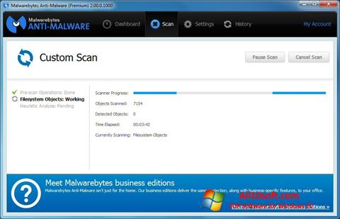 Снимак заслона Malwarebytes Anti-Malware Free Windows 10