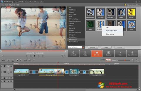 Снимак заслона Movavi Video Suite Windows 10