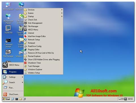 Снимак заслона Hirens Boot CD Windows 10