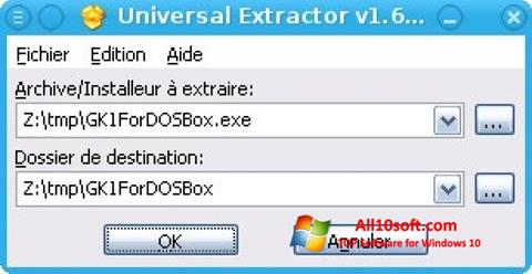 Снимак заслона Universal Extractor Windows 10