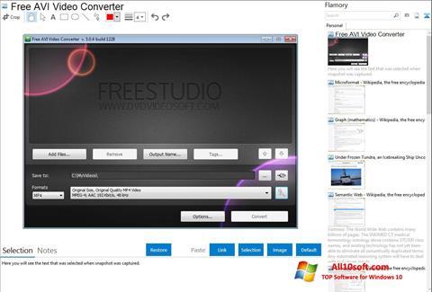Снимак заслона Free AVI Video Converter Windows 10