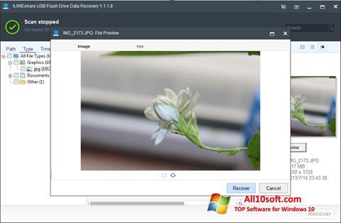 Снимак заслона USB Flash Drive Recovery Windows 10