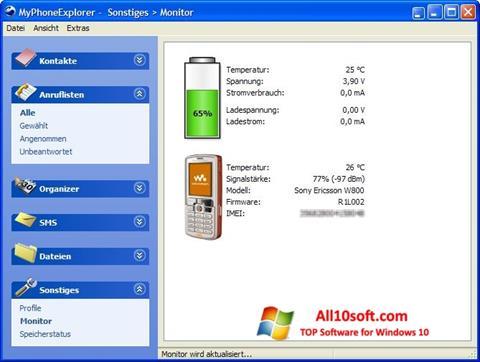 Снимак заслона MyPhoneExplorer Windows 10