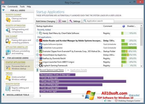 Снимак заслона Reg Organizer Windows 10