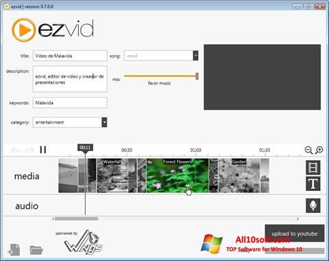 Снимак заслона Ezvid Windows 10