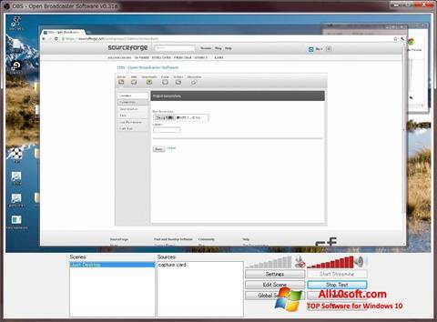 Снимак заслона Open Broadcaster Software Windows 10