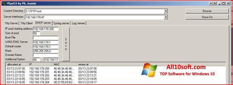 Снимак заслона Tftpd32 Windows 10