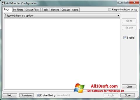 Снимак заслона Ad Muncher Windows 10