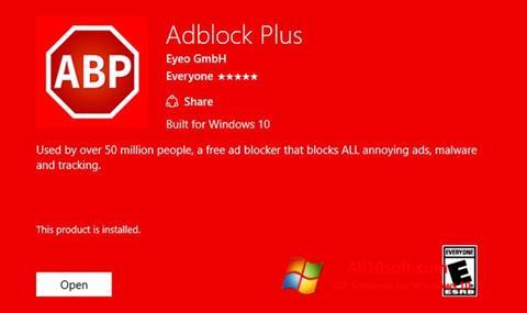 Снимак заслона Adblock Plus Windows 10
