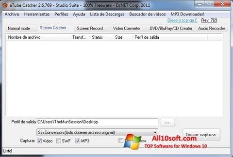 Снимак заслона aTube Catcher Windows 10