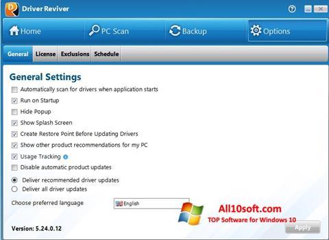 Снимак заслона Driver Reviver Windows 10