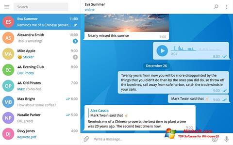 Снимак заслона Telegram Desktop Windows 10