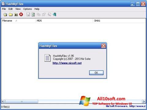 Снимак заслона HashMyFiles Windows 10